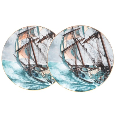 """Royal Doulton Porcelain Plates After """"Rounding the Horn"""" by John Stobart"""