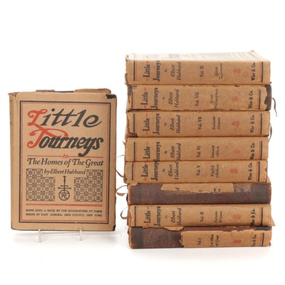 """""""Little Journeys to the Homes of the Great"""" Partial Set by Elbert Hubbard, 1928"""