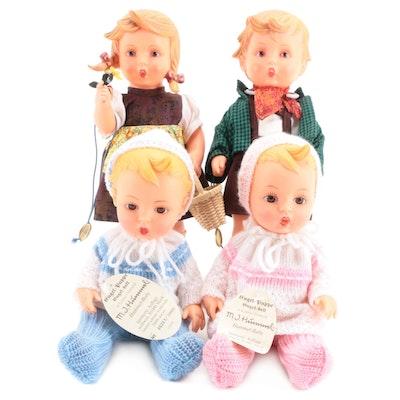Engel, Goebel M.J. Hummel Dolls with Tags, Stands