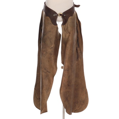 King's Saddlery Leather and Suede Batwing Rodeo Chaps