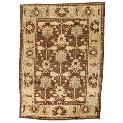 11'3 x 16'2 Hand-Knotted Turkish Oushak Room Size Rug
