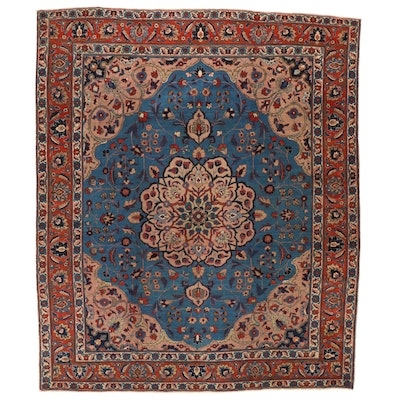 11'1 x 13'1 Hand-Knotted Persian Tabriz Room Sized Rug