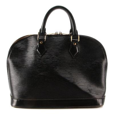 Louis Vuitton Alma PM in Black Epi Leather
