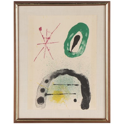 """Joan Miró Lithograph for """"Derrière le Miroir,"""" 1963"""