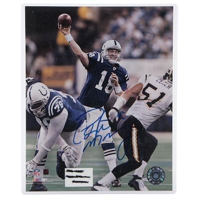 Peyton Manning Signed Indianapolis Colts NFL Action Photo Print, COA