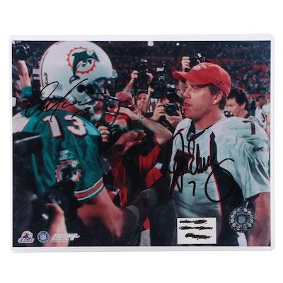 John Elway and Dan Marino Signed NFL Hall of Fame Quarterbacks Photo Print, COA
