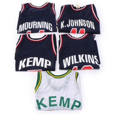 Champion Dream Team II NBA Jerseys with Kemp, Johnson, Wilkins and Mourning