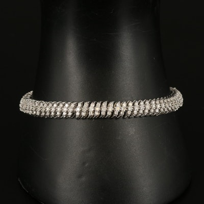 Sterling 3.00 CTW Diamond Bracelet