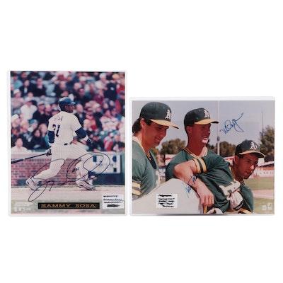 Sammy Sosa and Mark McGwire Signed Major League Baseball Photo Prints, COAs