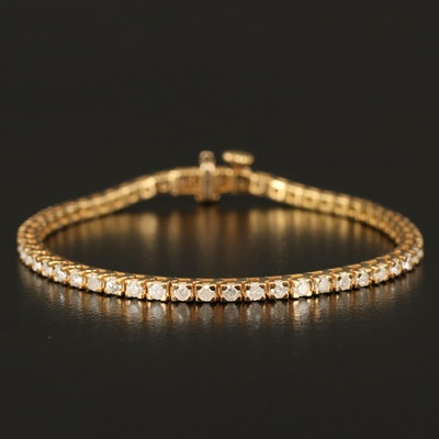 Sterling 3.03 CTW Diamond Line Bracelet