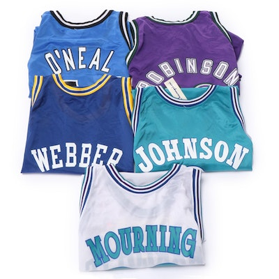 Champion NBA Jerseys with O'Neal, Robinson, Johnson, Webber and Mourning