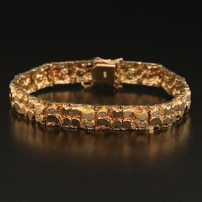14K Nugget Link Bracelet