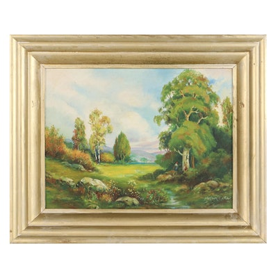 Stephen Geitz Landscape Oil Painting of Early Autumn