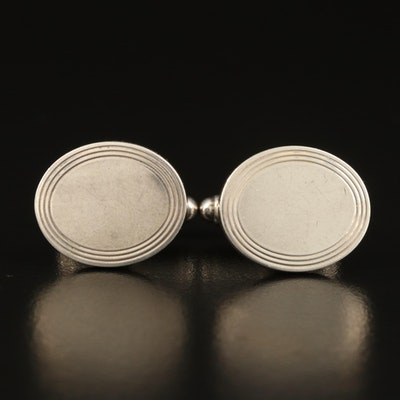 Tiffany & Co. Sterling Oval Cufflinks