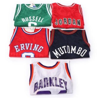 Champion NBA Jerseys with Jordan, Barkley, Mutumbo, Russell and Erving