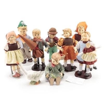"""Hummel """"Kiss Me"""", """"Birthday Serenade"""" and Other Goebel Hummel Porcelain Dolls"""