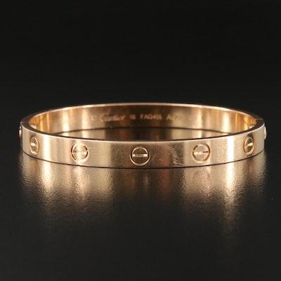 """Cartier 18K Rose Gold """"Love"""" Bracelet"""