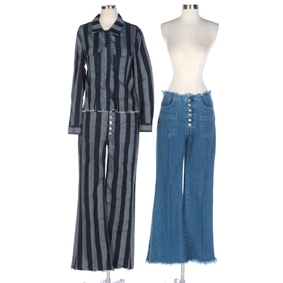 7 For All Mankind M'A X7 FAM Denim High Waist Jeans and Jacket