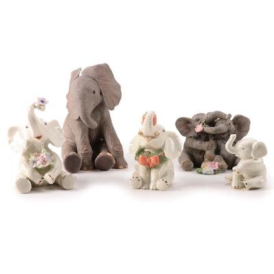 Lenox Porcelain Elephant Figurines, Late 20th Century