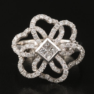 18K 0.70 CTW Diamond Ring