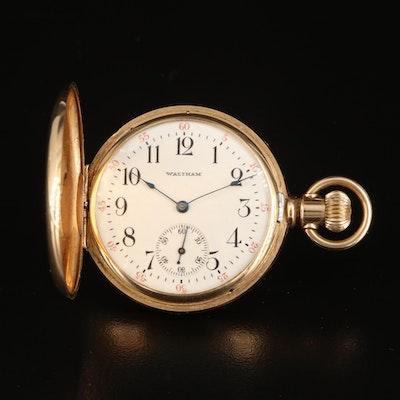 1905 Waltham 14K Ruby and Diamond Hunting Case Pocket Watch