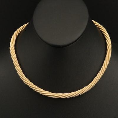 Italian 14K Braided Chain Necklace