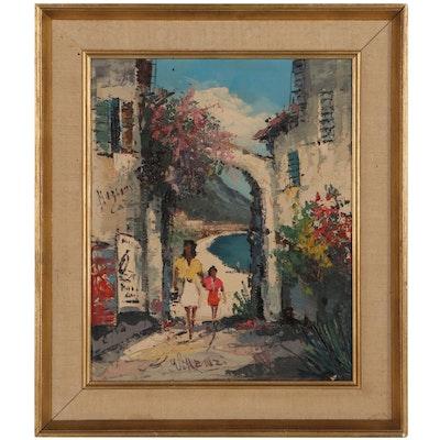 "Genre Oil Painting ""#3 Water Scene in Virensi"""