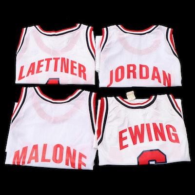 Champion USA Dream Team NBA Jerseys with Jordan, Ewing, Malone and Laettner