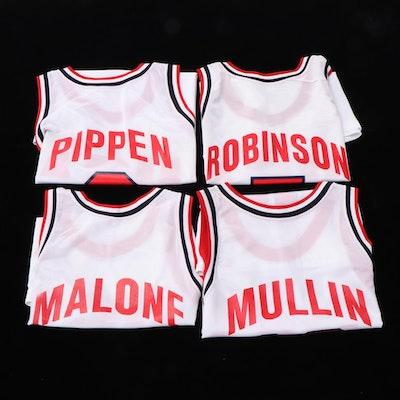 Champion Dream Team NBA Jerseys with Robinson, Pippen, Mullin and Malone