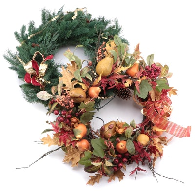 Autumn and Winter Artificial Wreaths