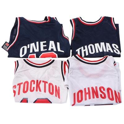 Champion USA Dream Team NBA Jerseys with O'Neal, Johnson and Stockton