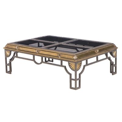 Iron and Bronze Coffee Table