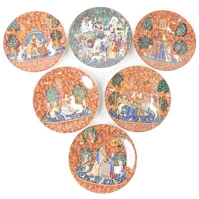 """Haviland & Parlon """"La Dame à la Licorne"""" Porcelain Collector Plates and More"""