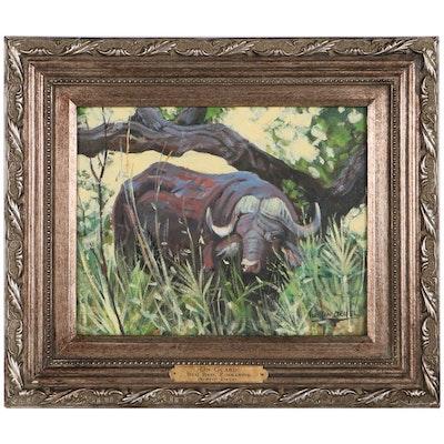"Austin Deuel Oil Painting ""On Guard"""