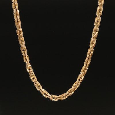 Grando Rope 14K Fancy Link Chain