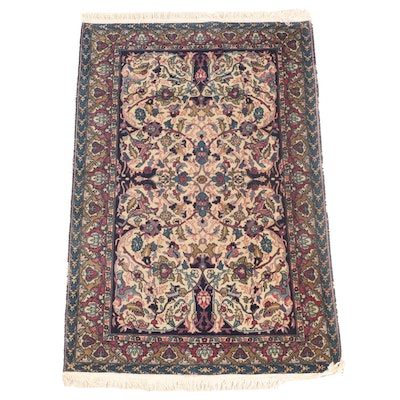 3'6 x 5'9 Machine Made Floral Area Rug