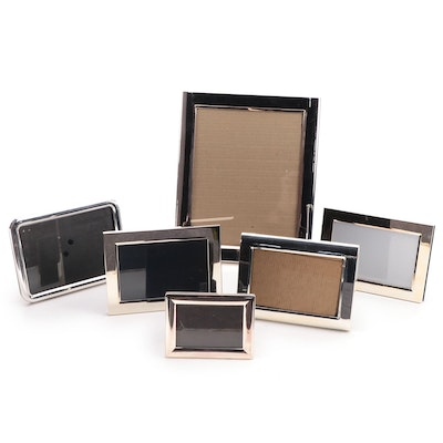 Rectangular Silver Tone Picture Frames