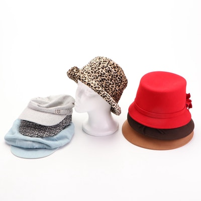Calvin Klein, Charter Club, and Other Caps, Cloche Hats, and Bucket Hats