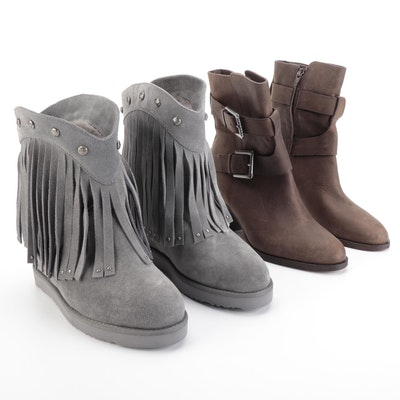 Lauren by Ralph Lauren Leather Boots and Australia Luxe Collective Suede Boots