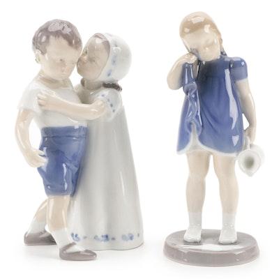 """Bing & Grøndahl """"Love Refused"""" and """"Spilt Milk"""" Porcelain Figurines"""