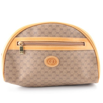 Gucci Cosmetic Pouch in Micro GG Coated Canvas and Leather