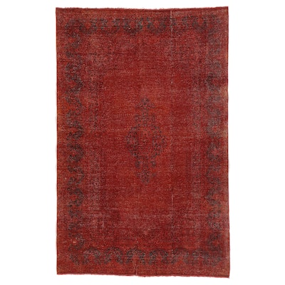 5'7 x 8'8 Hand-Knotted Persian Overdyed Area Rug