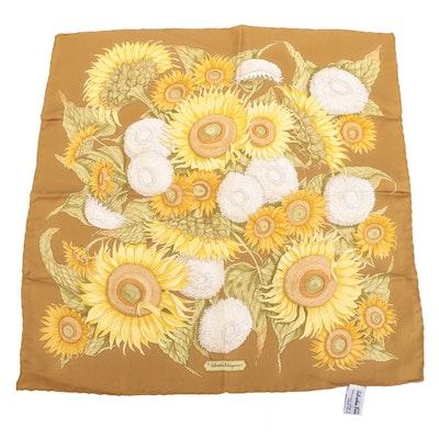 Salvatore Ferragamo Handkerchief in Floral Silk Twill
