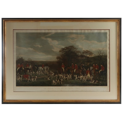 Frederick Bromley Hand-Colored Engraving After Francis Grant Hunting Scene