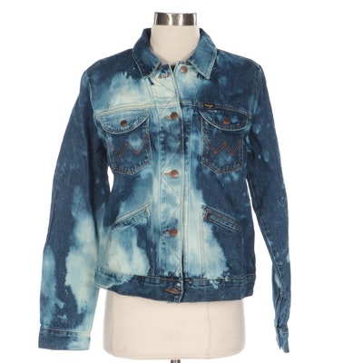 Wrangler Icons Collection 124WJ Bleach Patch Western Denim Jacket