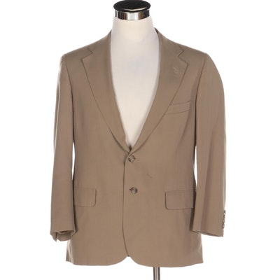 Chaps by Ralph Lauren Tan Blazer with Notched Collar