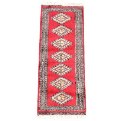 2' x 5'5  Hand-Knotted Pakistani Bokhara Long Rug