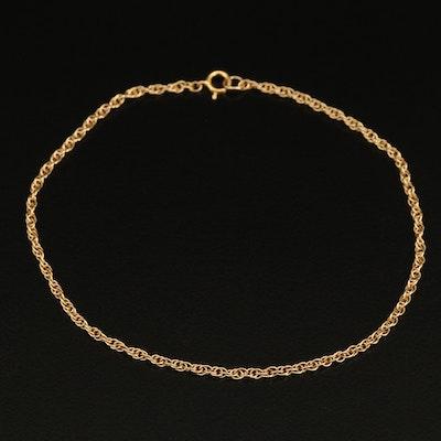 14K Singapore Chain Bracelet