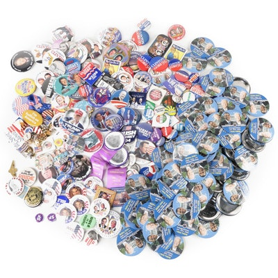 Political Buttons and Patriotic Pinbacks, 20th & 21st Century