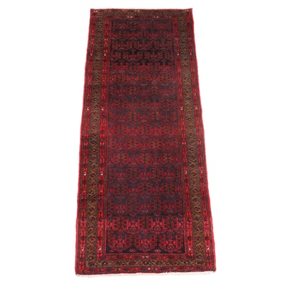 3'6 x 9'1 Hand-Knotted Persian Kurdish Area Rug